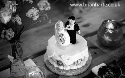 york wedding. knitted wedding cake