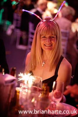 lady lit by sparklers