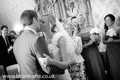 wedding kiss goldsborough hall