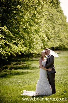 wedding couple royal gardens goldsborough hall