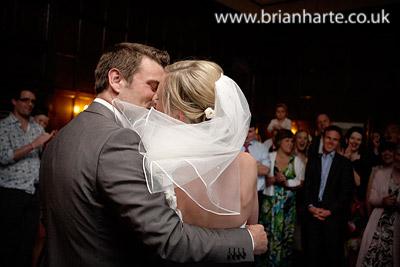 wedding first dance kiss goldsborough hall