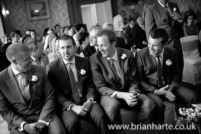 groom and ushers waiting goldsborough hall